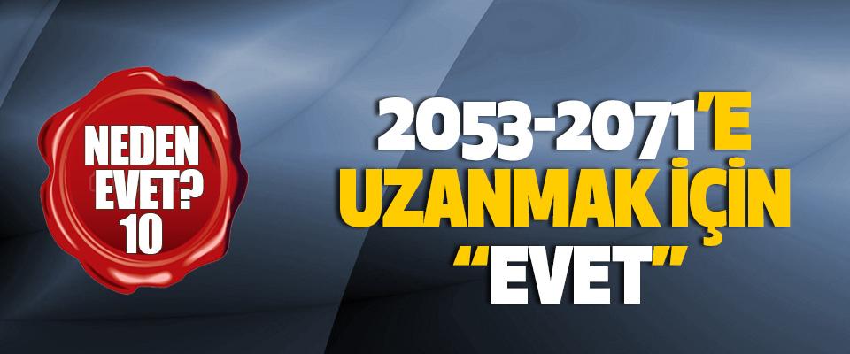 """2053-2071'e uzanmak için """"evet"""""""