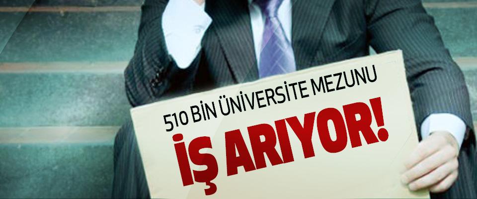510 Bin Üniversite Mezunu İş Arıyor!
