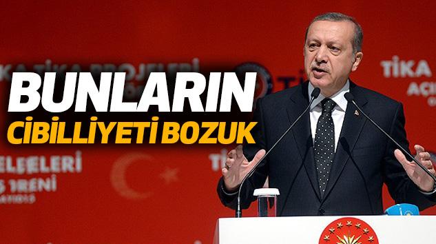 Cumhurbaşkanı Erdoğan: Bunların Cibilliyeti Bozuk