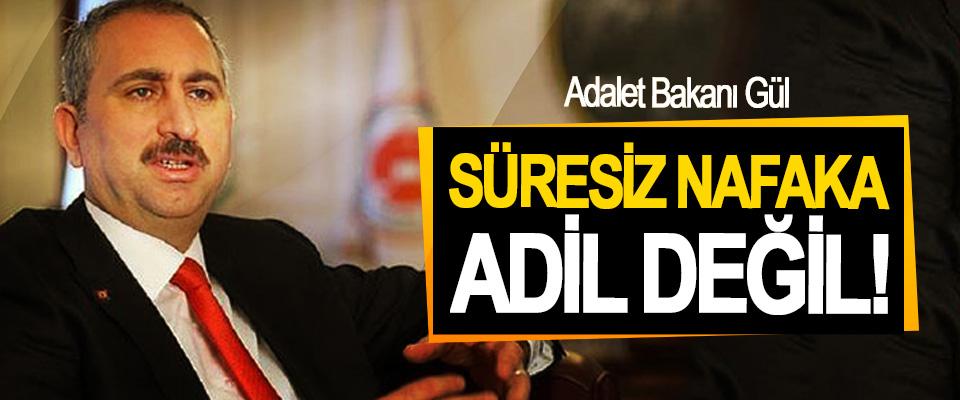 Adalet Bakanı Gül: Süresiz Nafaka Adil Değil!
