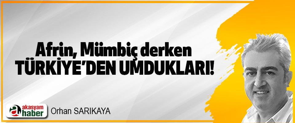 Afrin, Mümbiç derken  Türkiye'den umdukları!