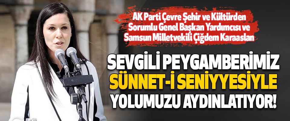 AK Parti Çevre Şehir ve Kültürden Sorumlu Genel Başkan Yardımcısı ve Samsun Milletvekili Çiğdem Karaaslan