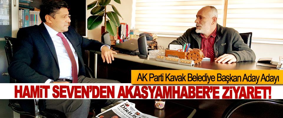 AK Parti Kavak Belediye Başkan Aday Adayı Hamit Seven'den akasyamhaber'e ziyaret!