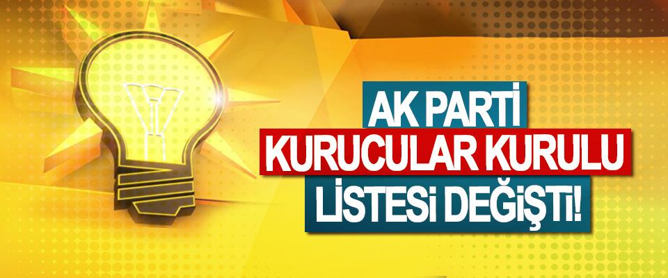 Ak Parti kurucular kurulu listesi değişti!