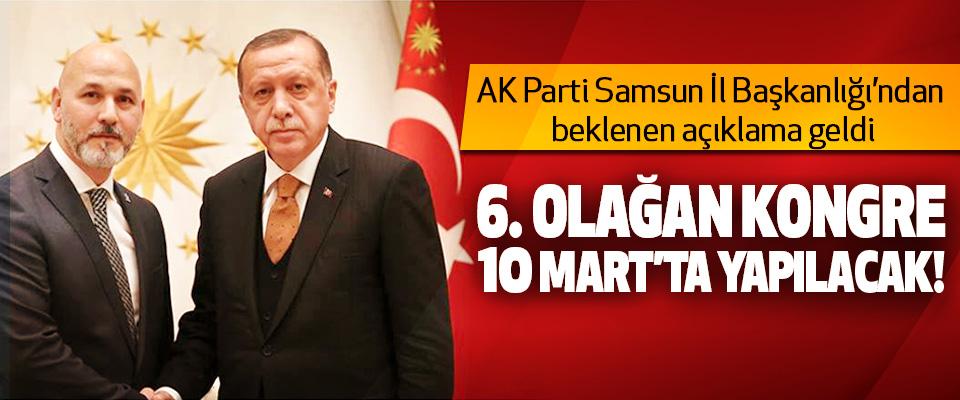 AK Parti Samsun İl Başkanlığı'ndan beklenen açıklama geldi