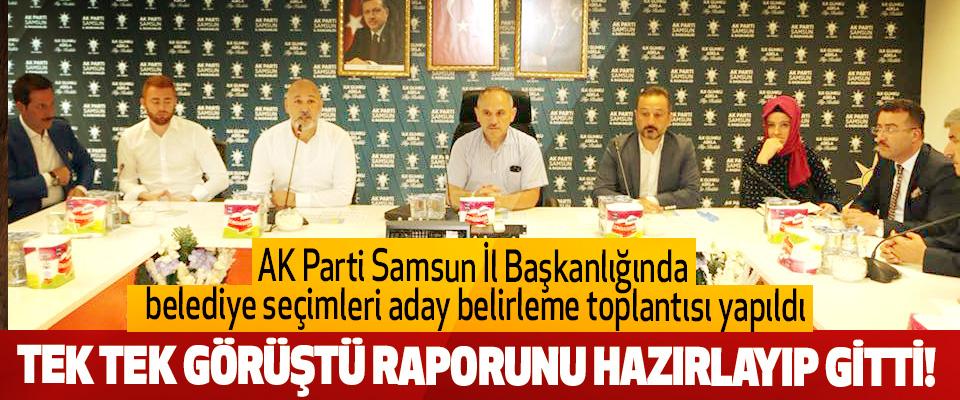 AK Parti Samsun İl Başkanlığında belediye seçimleri aday belirleme toplantısı yapıldı