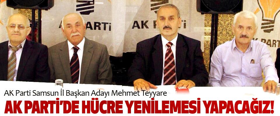 AK Parti Samsun İl Başkan Adayı Mehmet Teyyare: Ak parti'de hücre yenilemesi yapacağız!