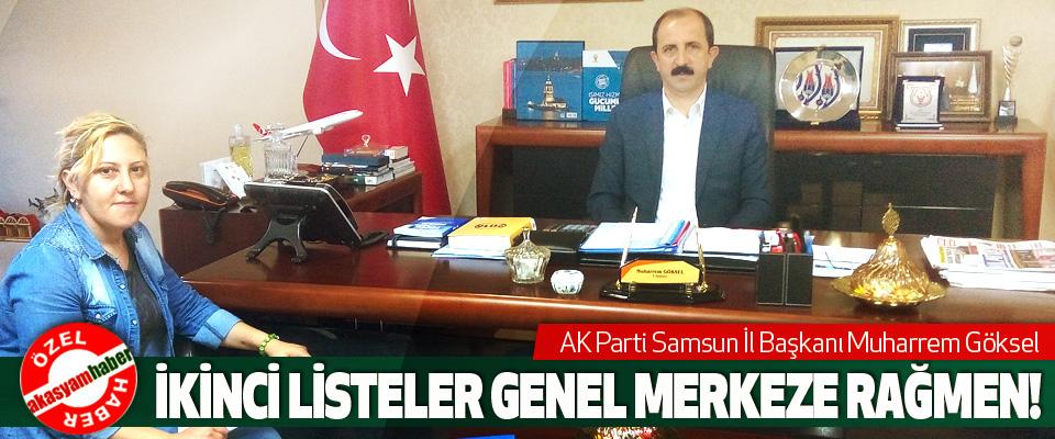 AK Parti Samsun İl Başkanı Muharrem Göksel: İkinci listeler genel merkeze rağmen!