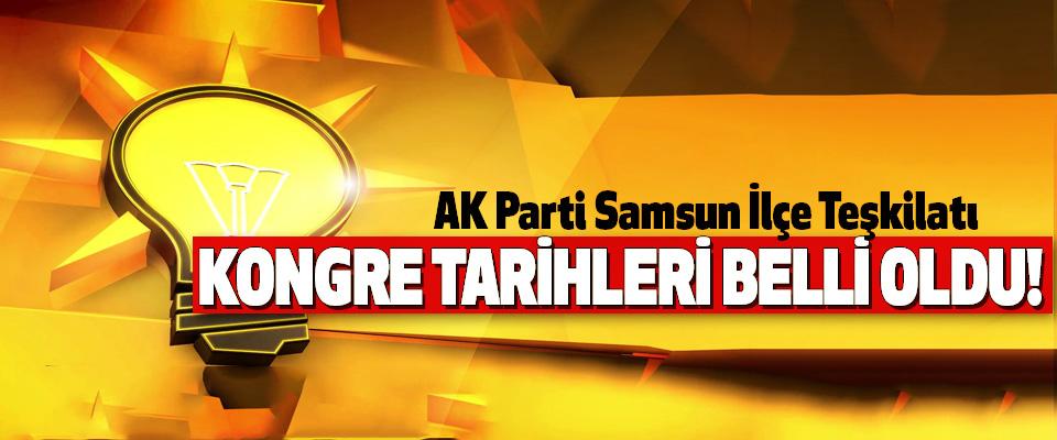 AK Parti Samsun İlçe Teşkilatı Kongre tarihleri belli oldu!