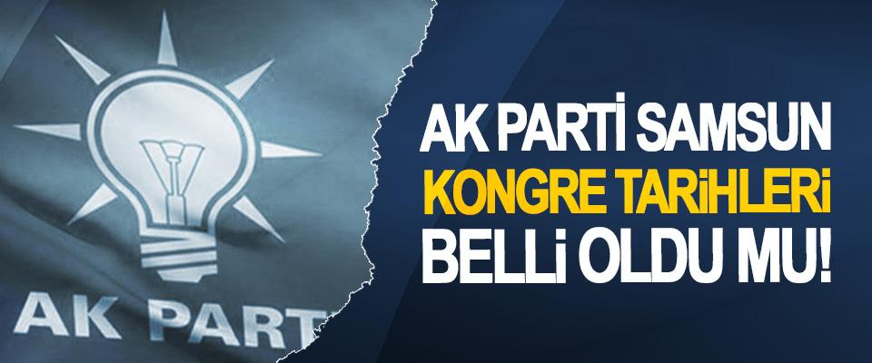 Ak Parti Samsun Kongre Tarihleri Belli Oldu Mu!
