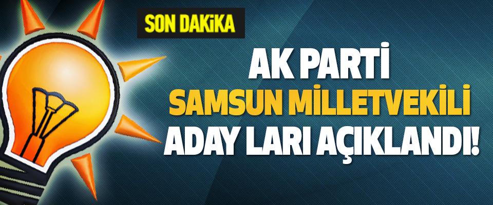 AK Parti samsun milletvekili adayları açıklandı!