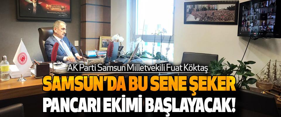 AK Parti Samsun Milletvekili Fuat Köktaş Samsun'da Bu Sene Şeker Pancarı Ekimi Başlayacak!