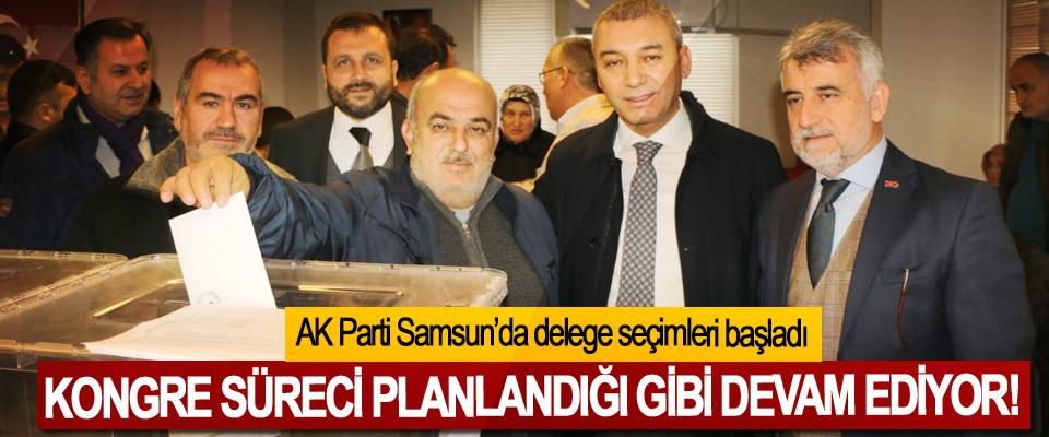 AK Parti Samsun'da delege seçimleri başladı