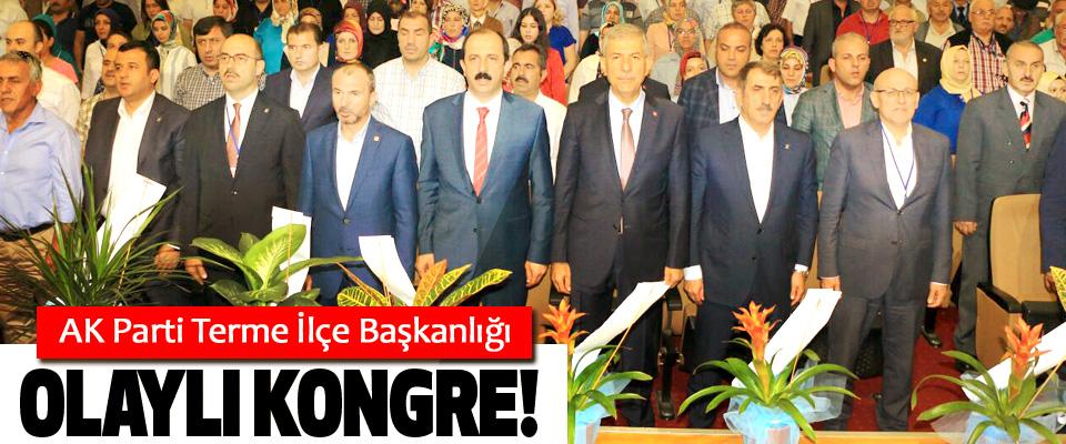 AK Parti Terme İlçe Başkanlığında Olaylı kongre!