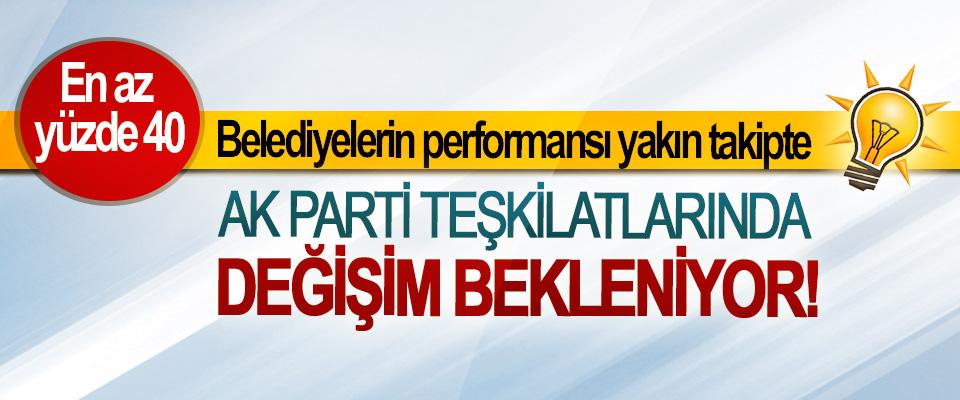Ak parti'de teşkilatlarında değişim bekleniyor!