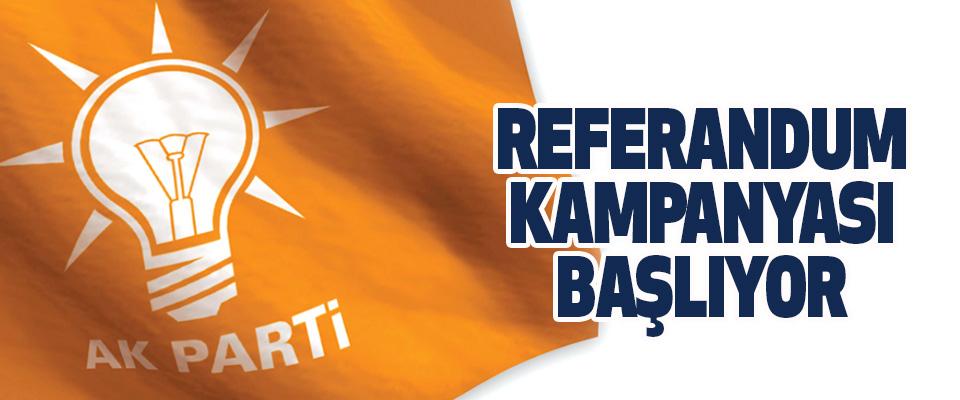 AK Parti'nin Referandum Kampanyası Başlıyor