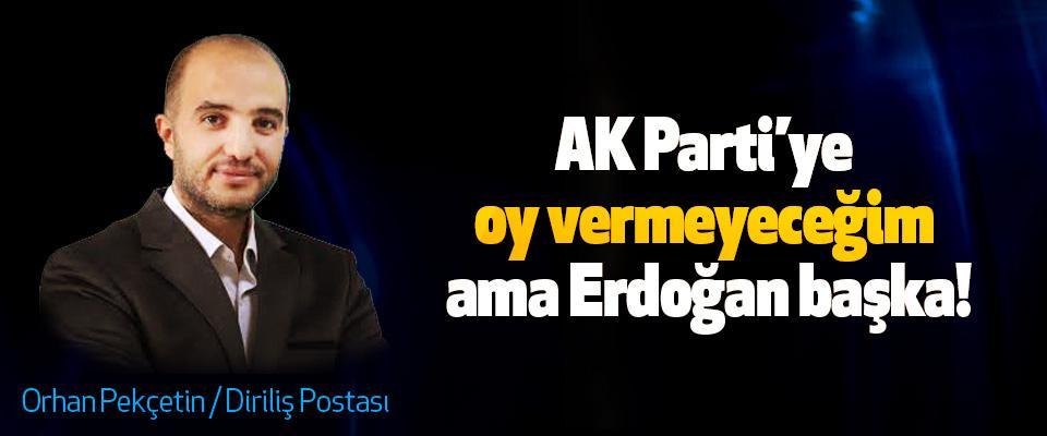 AK Parti'ye oy vermeyeceğim ama Erdoğan başka!