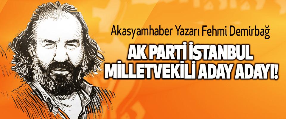 Akasyamhaber Yazarı Fehmi Demirbağ Ak Parti İstanbul milletvekili aday adayı!