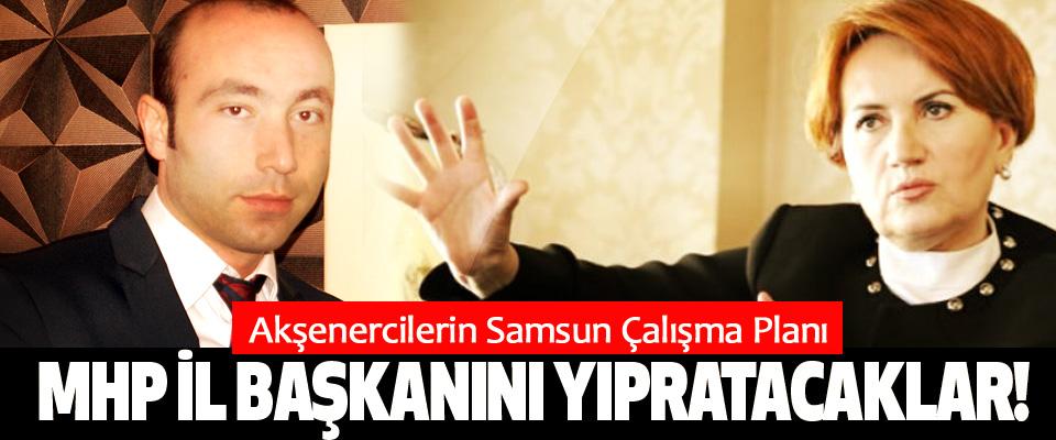 Akşenercilerin Samsun Çalışma Planı, MHP il başkanını yıpratacaklar!