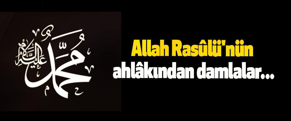 Allah Rasûlü'nün ahlâkından damlalar...