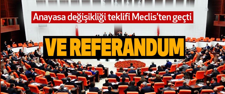 Anayasa değişikliği teklifi Meclis'ten geçti