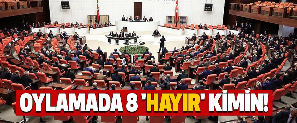 Anayasa Oylamasında 8 'hayır' kimin!
