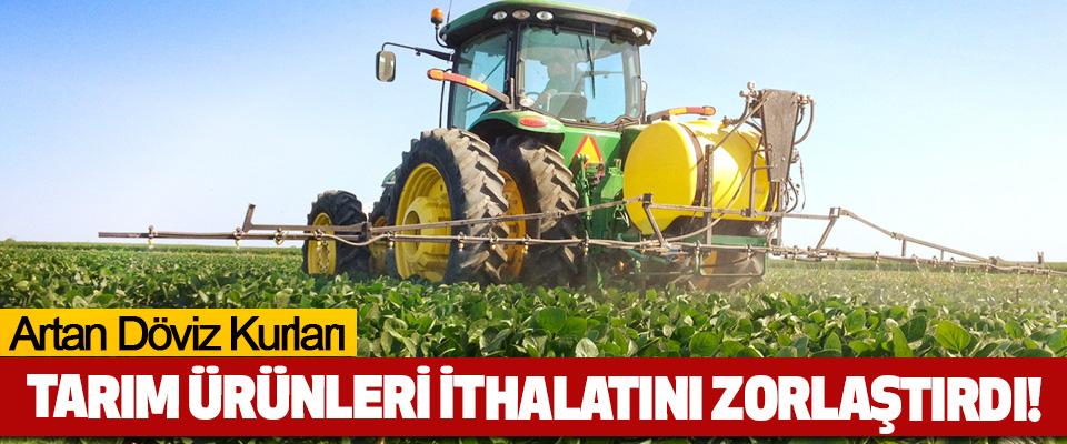Artan Döviz Kurları Tarım Ürünleri İthalatını Zorlaştırdı!