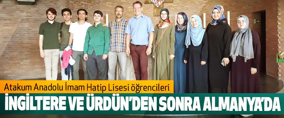 Atakum AİHL Öğrencileri İngiltere Ve Ürdün'den Sonra Almanya'da