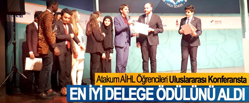 Atakum AİHL Öğrencileri Uluslararası Konferansta En İyi Delege Ödülünü Aldı