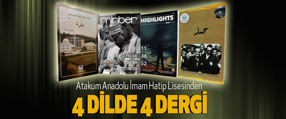 Atakum Aihl'den 4 Dilde 4 Dergi