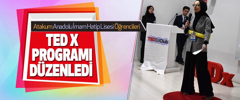 Atakum Anadolu İHL Öğrencileri Ted X Programı Düzenledi