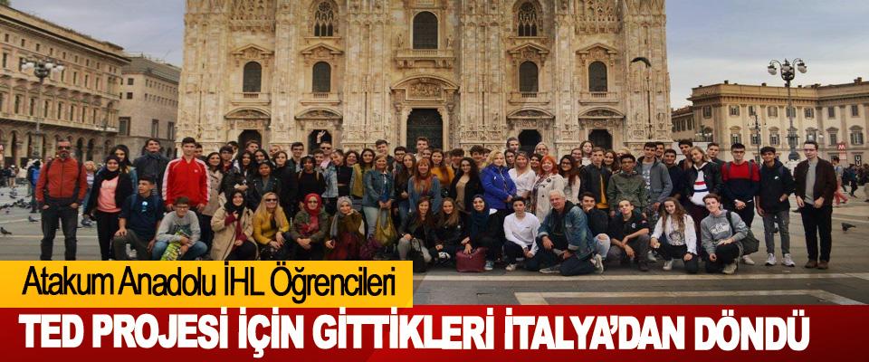 Atakum Anadolu İHL Öğrencileri  TED Projesi İçin Gittikleri İtalya'dan Döndü