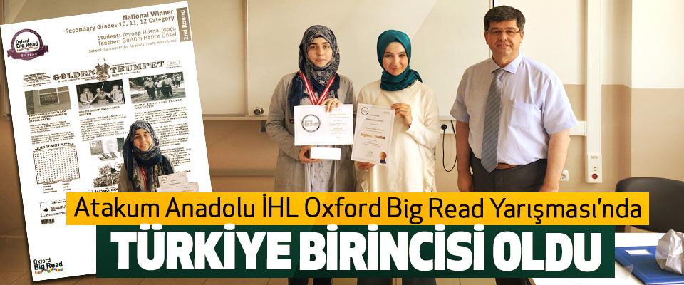 Atakum Anadolu İHL Oxford Big Read Yarışması'nda Türkiye Birincisi Oldu