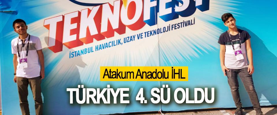 Atakum Anadolu İHL Türkiye  4.sü oldu