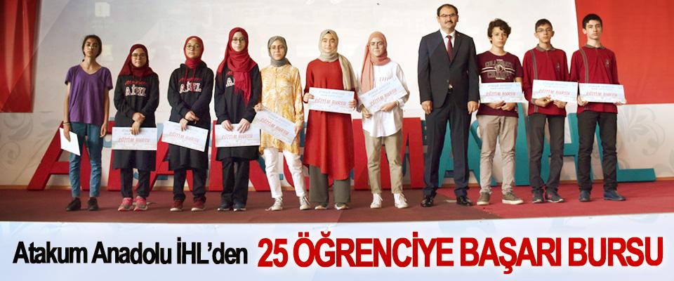 Atakum Anadolu İHL'den 25 Öğrenciye Başarı Bursu