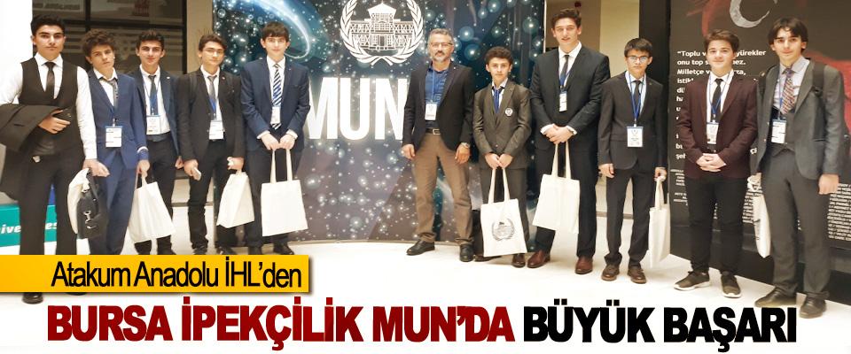 Atakum Anadolu İHL'den Bursa İpekçilik Mun'da Büyük Başarı