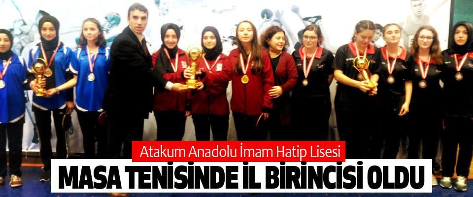 Atakum Anadolu İmam Hatip Lisesi Masa Tenisinde İl Birincisi Oldu