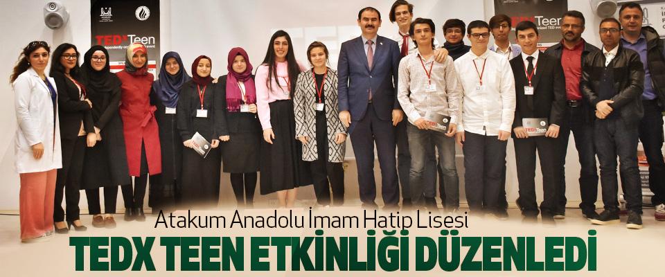 Atakum Anadolu İmam Hatip Lisesi TedX Teen Etkinliği Düzenledi