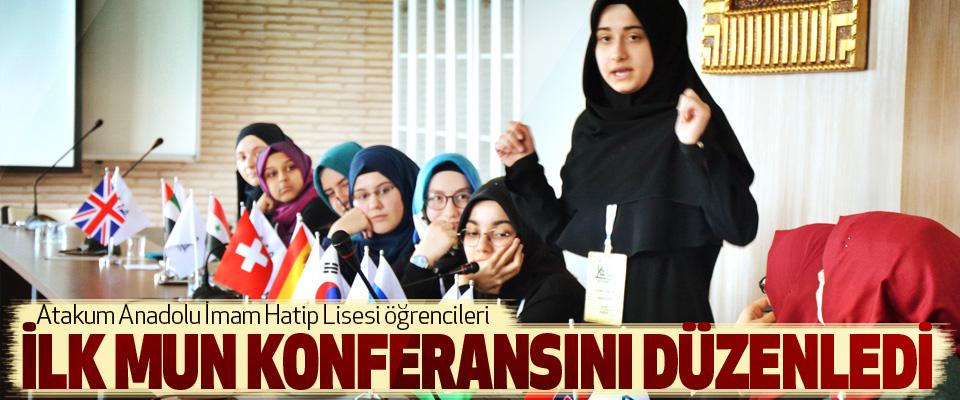 Atakum Anadolu İmam Hatip Lisesi öğrencileri İlk Mun Konferansını Düzenledi