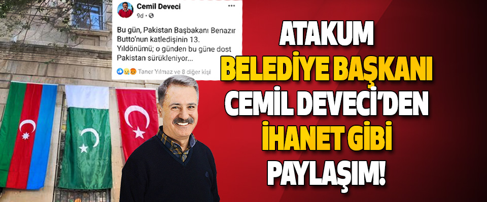 Atakum Belediye Başkanı Cemil Deveci'den İhanet Gibi Paylaşım!