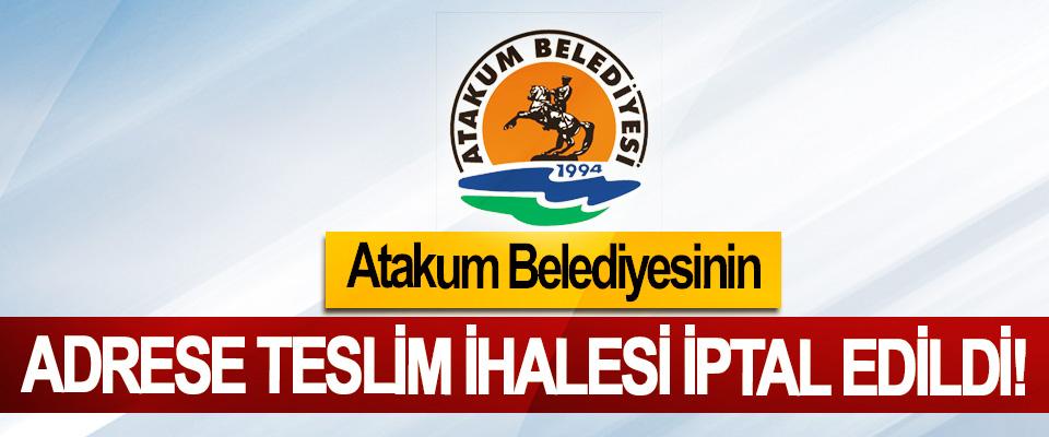 Atakum Belediyesinin Adrese Teslim İhalesi İptal Edildi!