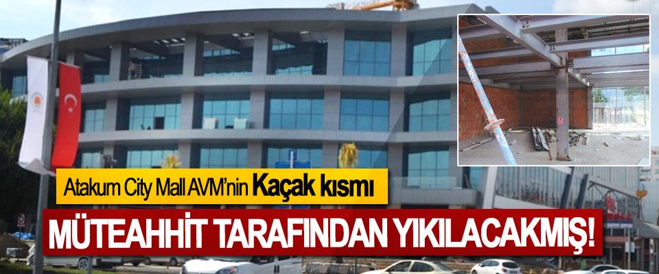 Atakum City Mall AVM'nin Kaçak kısmı Müteahhit tarafından yıkılacakmış!