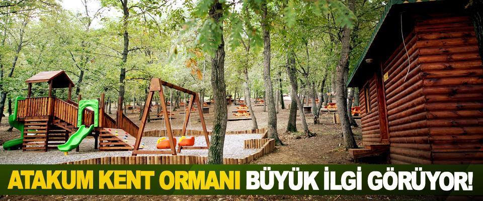 Atakum kent ormanı büyük ilgi görüyor!