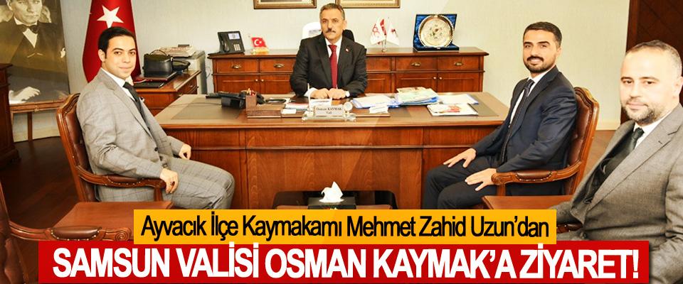Ayvacık İlçe Kaymakamı Mehmet Zahid Uzun'dan Samsun valisi Osman Kaymak'a ziyaret!