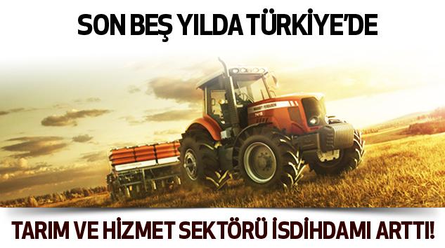 Tarım ve hizmet sektörü isdihdamı arttı!