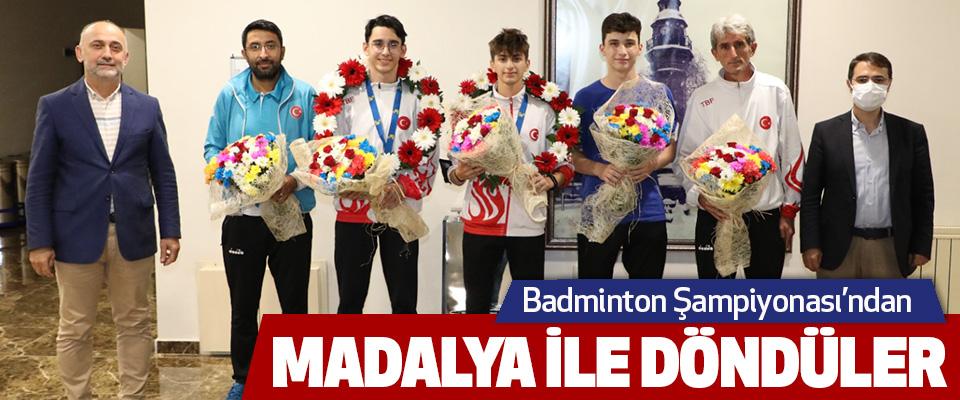 Badminton Şampiyonası'ndan Madalya İle Döndüler