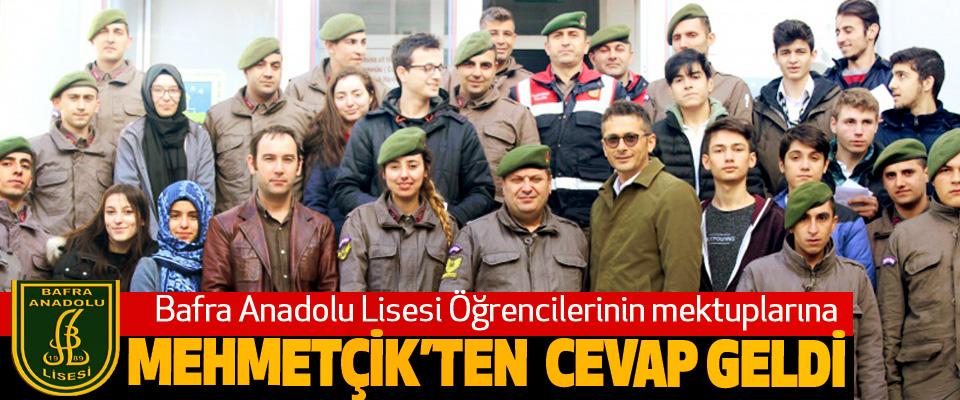 Bafra Anadolu Lisesi Öğrencilerinin mektuplarına Mehmetçik'ten Cevap Geldi