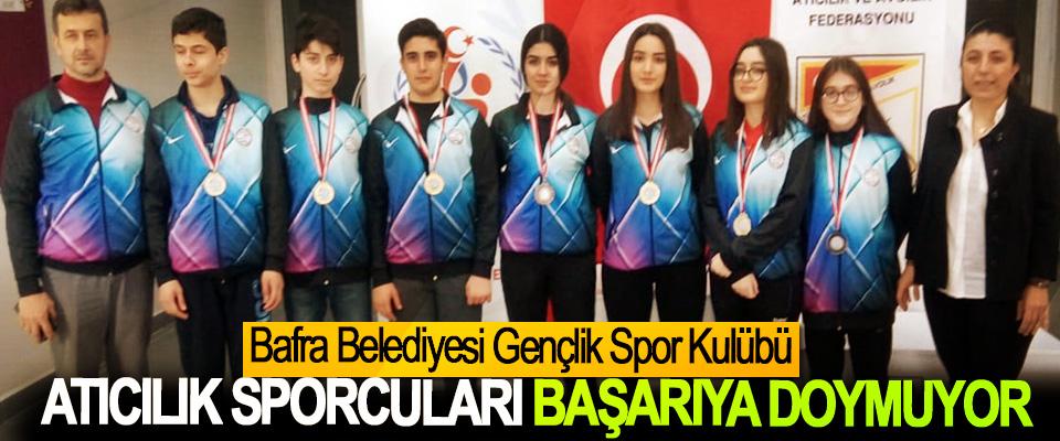 Bafra Belediyesi Gençlik Spor Kulübü Atıcılık Sporcuları Başarıya Doymuyor