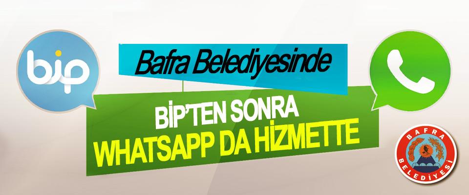 Bafra Belediyesinde Bip'ten Sonra Whatsapp'da Hizmette