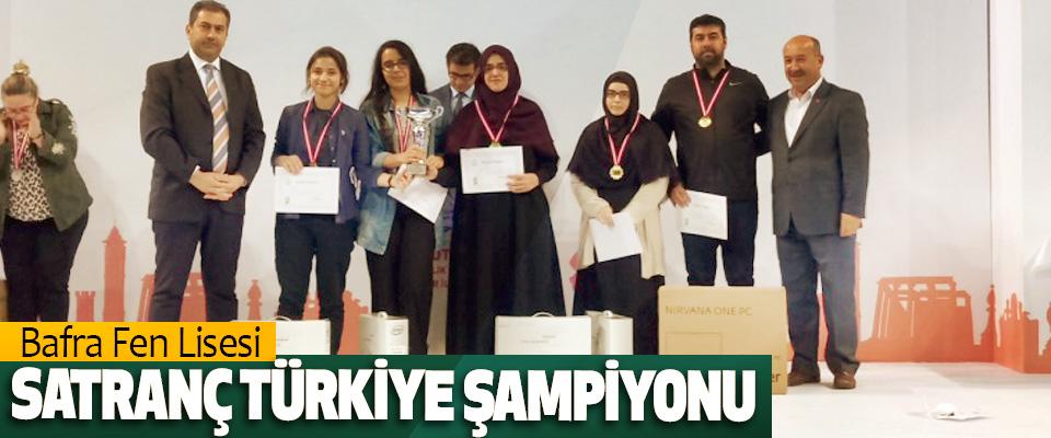 Bafra Fen Lisesi Satranç Türkiye Şampiyonu